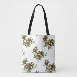 Vintage Holly All-Over-Print Tote Bag