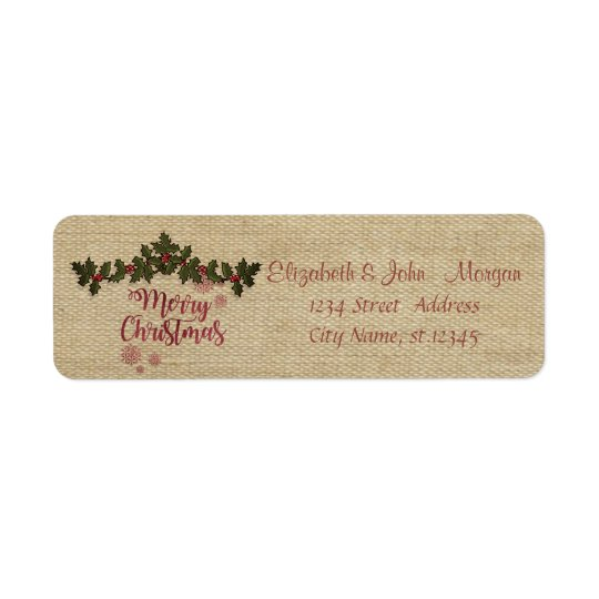 Vintage,Holly Berry Branches,Merry Christmas