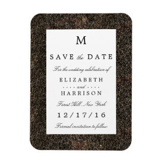 Vintage Hollywood Glam Wedding Save The Date Rectangular Photo Magnet