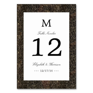 Vintage Hollywood Glam Wedding Table Number