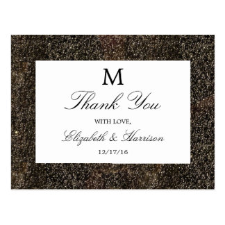 Vintage Hollywood Glam Wedding Thank You Postcard