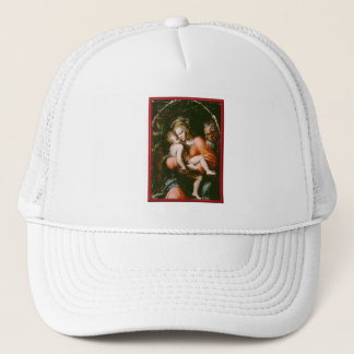 VINTAGE HOLY FAMILY TRUCKER HAT