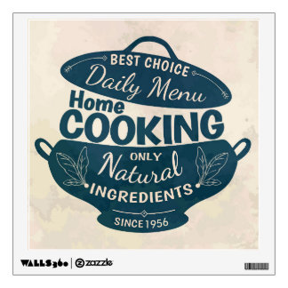 Vintage Home Cooking Badge Wall Decal