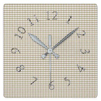 Vintage-Home-Decor-Gold-Diamond-Clocks Square Wall Clock