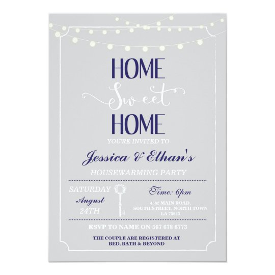 Vintage Home Sweet Home Housewarming Invitation