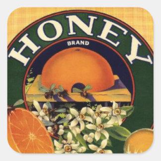 Vintage honey sticker