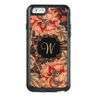 Vintage Honeysuckle Floral Pattern with Monogram OtterBox iPhone 6/6s Case