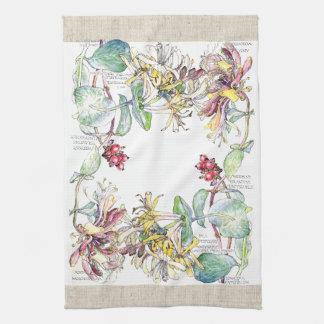 Vintage Honeysuckle Flowers Kitchen Towels