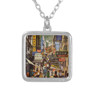 Vintage Hong Kong Silver Plated Necklace