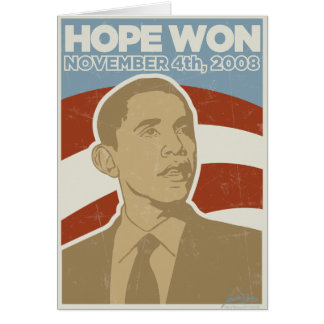 "Vintage ""Hope Won"" Obama Card"