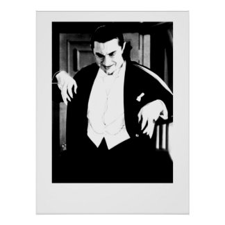 Vintage Horror Movie image Print Poster