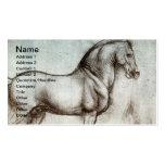 Vintage Horse Art Business Cards