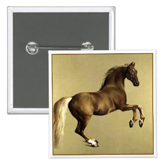 Vintage Horse Art:  Whistlejacket 2 Inch Square Button