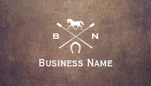 Equestrian business cards business card printing zazzle ca vintage horse monogram professional equestrian business card reheart Gallery