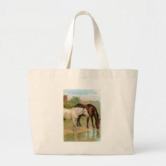Vintage Horse Painting Bags
