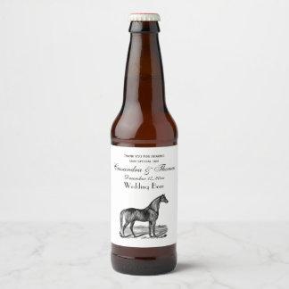 Vintage Horse Standing Beer Bottle Label
