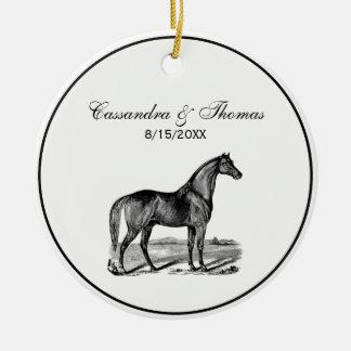 Vintage Horse Standing Ceramic Ornament