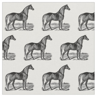 Vintage Horse Standing Fabric