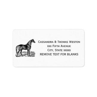 Vintage Horse Standing Label