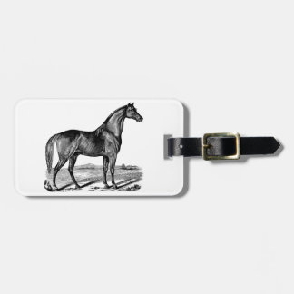 Vintage Horse Standing Luggage Tag