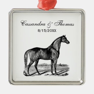 Vintage Horse Standing Metal Ornament
