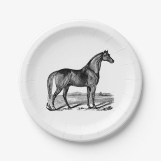 Vintage Horse Standing Paper Plate