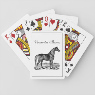Vintage Horse Standing Playing Cards