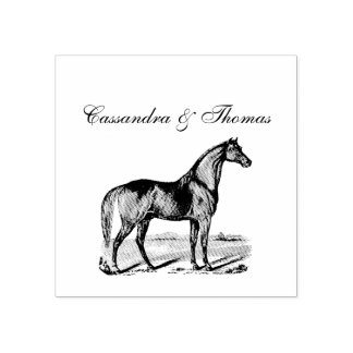 Vintage Horse Standing Rubber Stamp