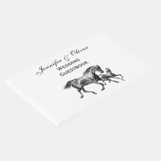Vintage Horses Mother Baby Foal Guest Book