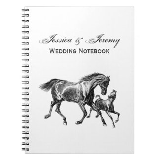 Vintage Horses Mother Baby Foal Note Book