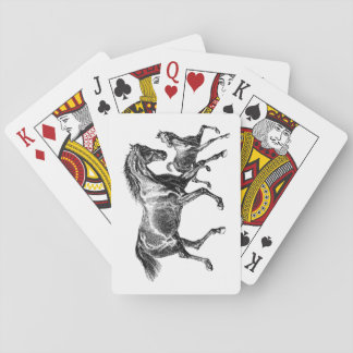 Vintage Horses Mother Baby Foal Poker Deck