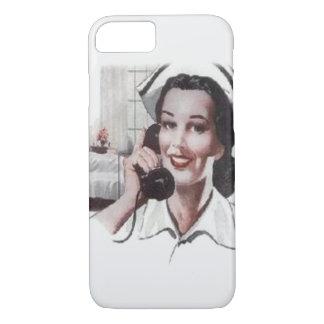 Vintage Hospital Ward Nurse on Telephone iPhone 7 Case