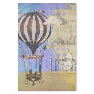 Vintage Hot Air Balloon Airplane Travel Tissue Paper