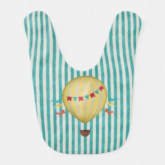 Vintage Hot Air Balloon Baby Bibs