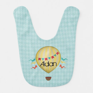Vintage Hot Air Balloon Bib