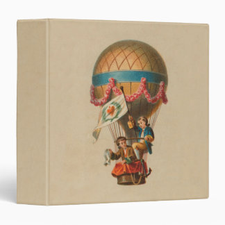 Vintage Hot Air Balloon Binder