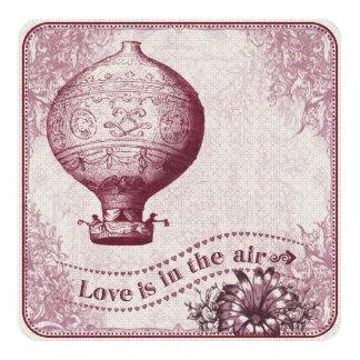Vintage Hot Air Balloon Burgundy VHZX Card