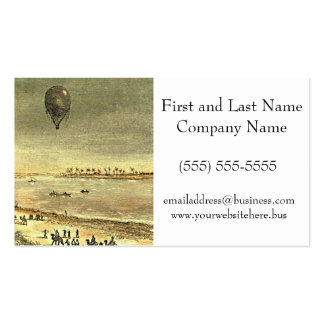 Vintage Hot Air Balloon Egyptian Illustration Double-Sided Standard Business Cards (Pack Of 100)