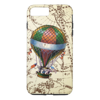 Vintage Hot Air Balloon Floats on Zodiac Sky iPhone 8 Plus/7 Plus Case