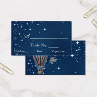 Vintage Hot air Balloon Night Wedding Place Cards