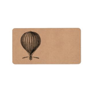 Vintage Hot Air Balloon Retro Airship Old Balloons
