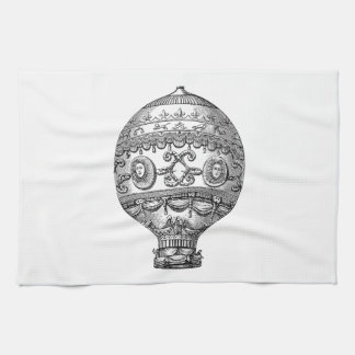 Vintage Hot Air Balloon Retro Airship Old Balloons Kitchen Towel