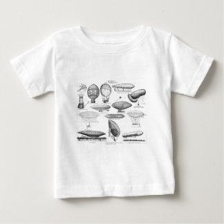 Vintage Hot Air Balloon Retro Balloons Template Baby T-Shirt
