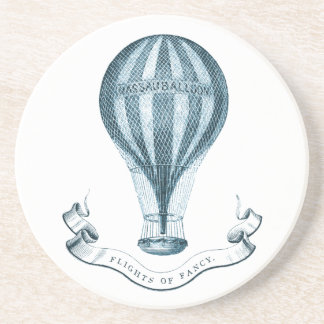 Vintage Hot Air Balloon Sandstone Coaster