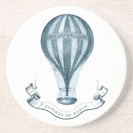 Vintage Hot Air Balloon Sandstone Coaster