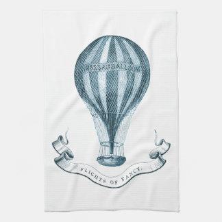 Vintage Hot Air Balloon Tea Towel