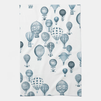 Vintage Hot Air Balloons In Flight Kitchen Towel