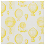 Vintage Hot Air Balloons in Gold Fabric