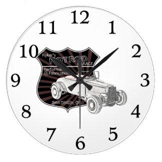 Vintage Hot Rod Garage Sign Large Clock
