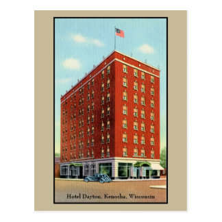 Vintage Hotel Dayton, Kenosha, Wisconsin Postcard